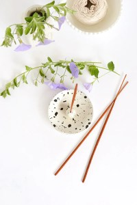 DIY paint splatter incense holder for Curbly  Make and Tell