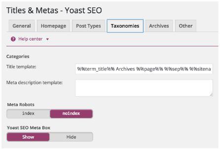 Taxominies-homepage-yoast-up