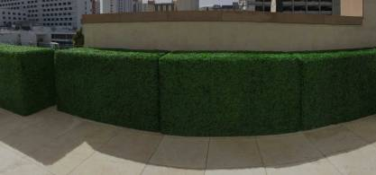 landscape architects faux boxwood wall