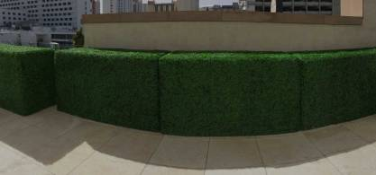 landscape architects faux boxwood wall
