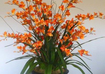 One of our vibrant custom arrangements at La Costa Glen, Carlsbad, California.