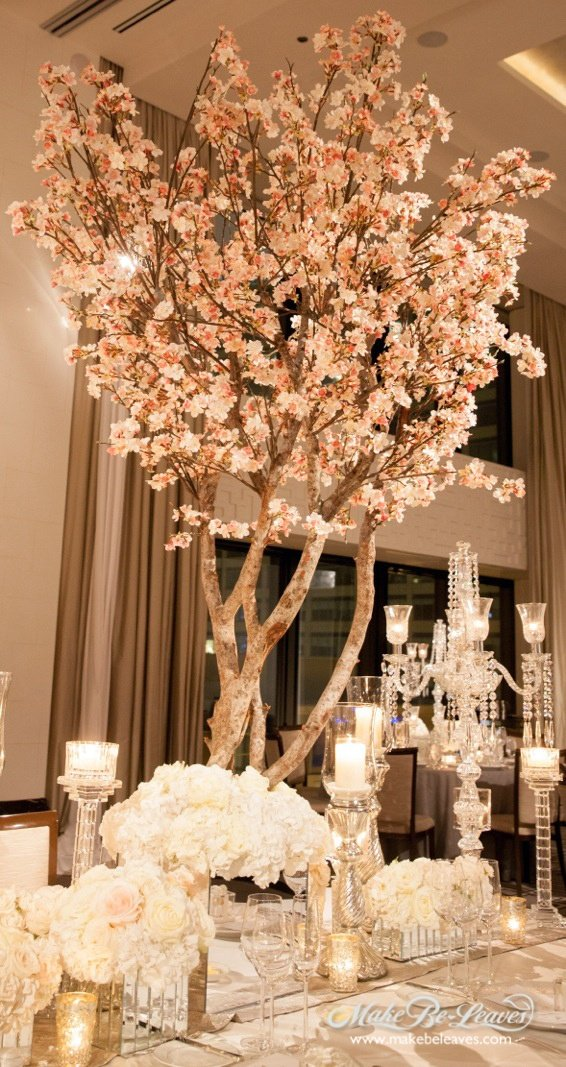 Winter Wonderland Wedding Trees