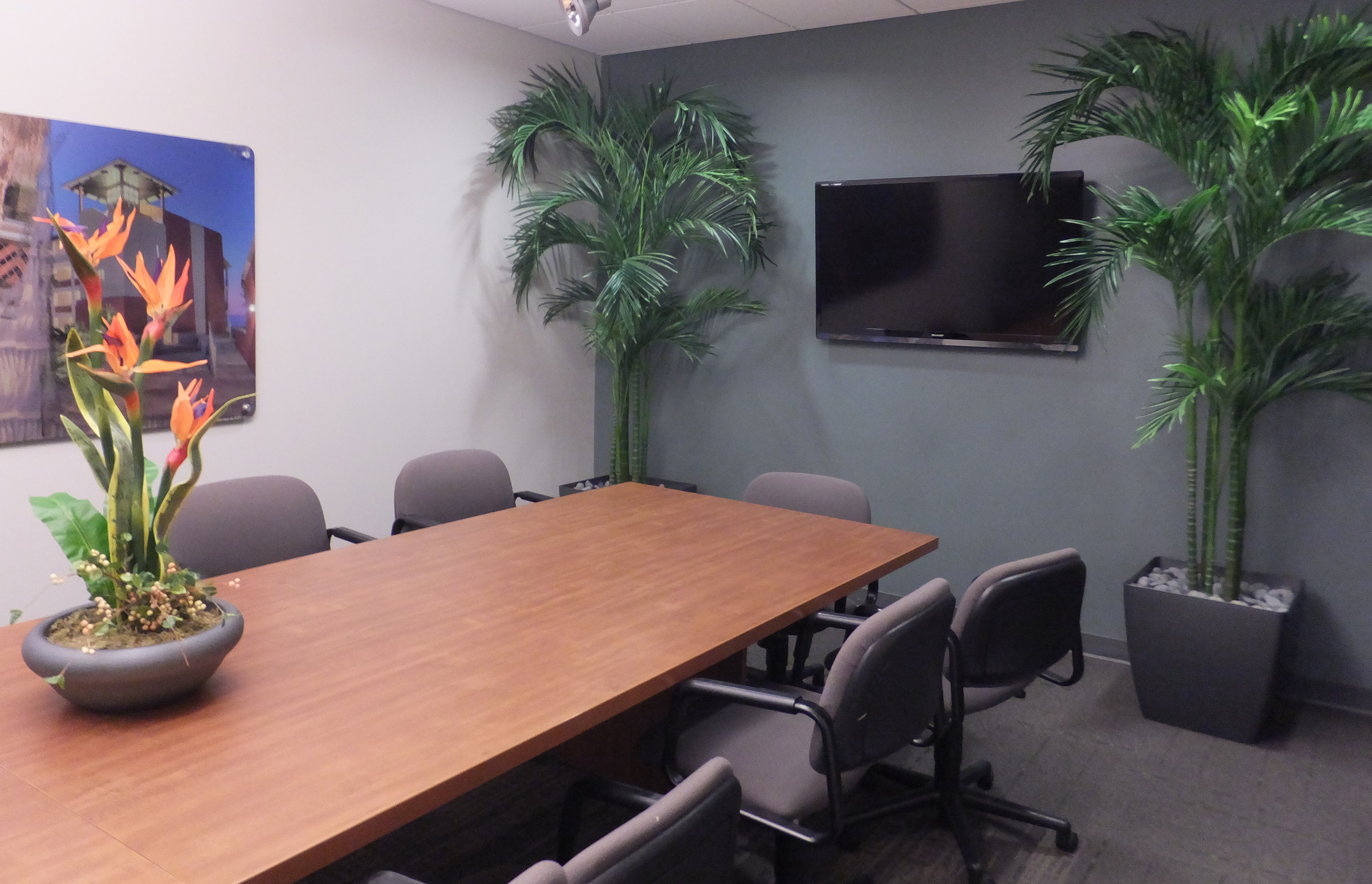 Artificial plantscaping is a great choice for the office ...