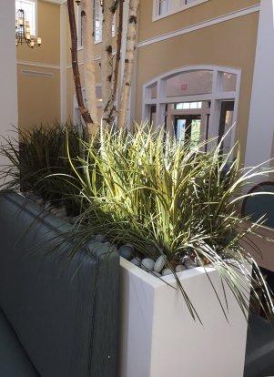 senior living faux planting