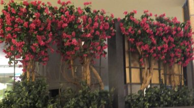 Event faux flower rental Fuschia Bougainvillea Trellises
