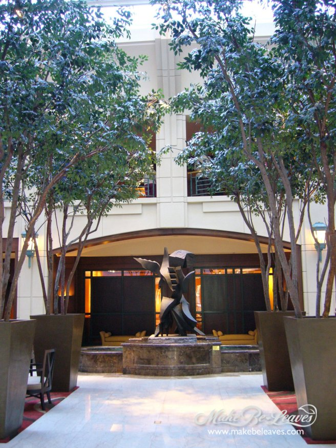 Makebeleaves artificial 23ft Ficus trees for hotel lobby