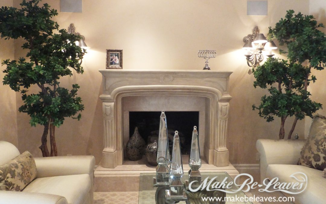 artificial trees for living room elle decor best rooms residential custom make be leaves
