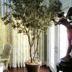 Artificial Trees For Living Room Cheap Chairs Sale Plants Plantscaping Silk Flowers Fake 8ft Mediterranean Olive Tree