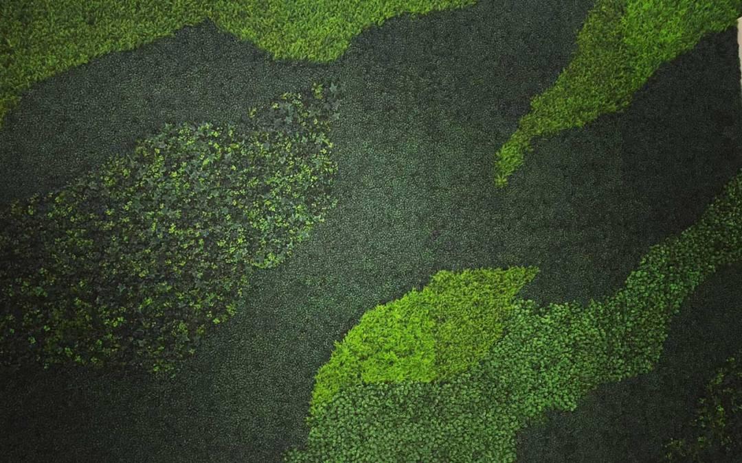 faux green wall