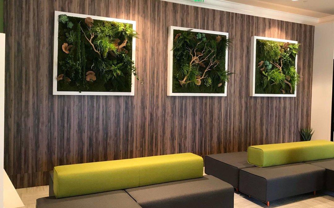 Green Wall Panels Highlight KONICA TECH Expo Booth