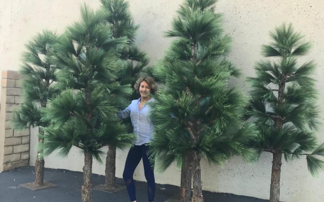 Silk Pine Trees, Innovative Display & Design – Salesforce Event