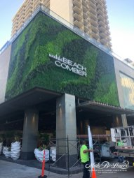 artificial green wall Outrigger Hotel