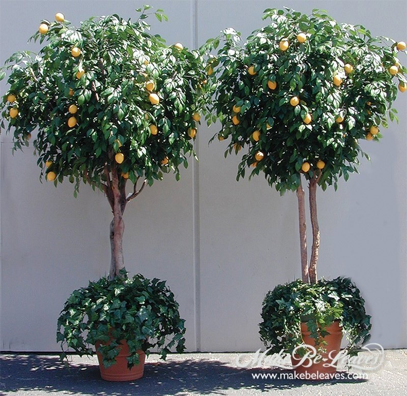 artificial lemon trees