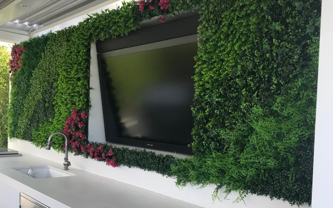 Exterior artificial plantscaping for Bel-Air Estate