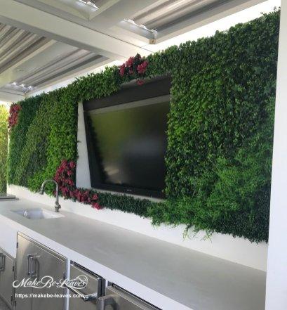 Exterior artificial plants