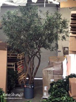 artificial Mediterranean olive trees
