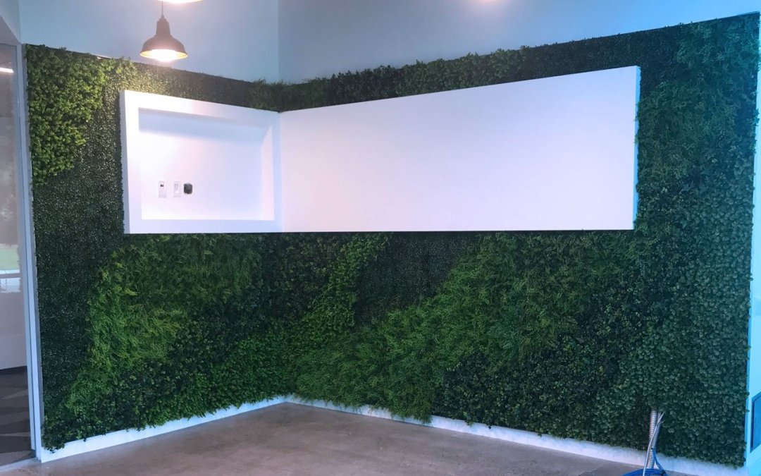 Artificial Green Walls for the KINECTA offices.