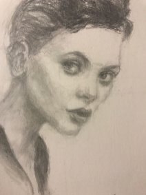 portrait drawing by Susie Ameche #04