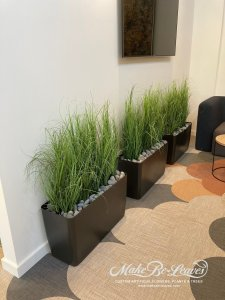 potted artificial grasses