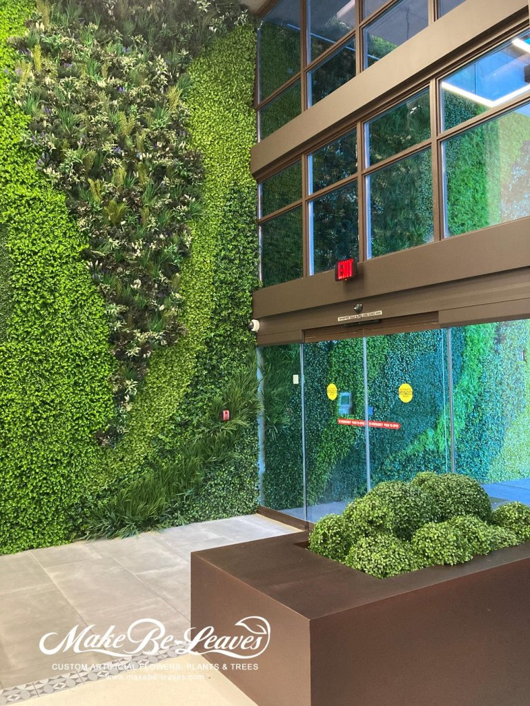 Artificial Green Walls entrance for the upscale Hotel Allegro Towers