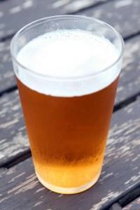 APA home brewed beer in 16oz pint