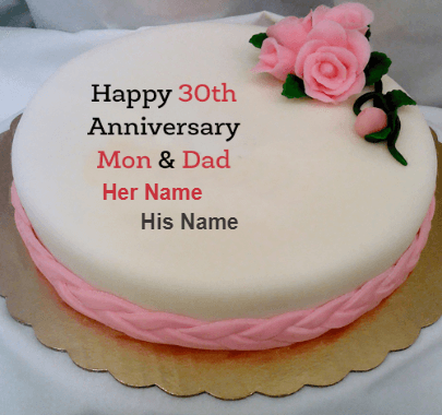 See more ideas about happy anniversary cakes, marriage anniversary cake, happy marriage anniversary cake. 30th Anniversary Celeberatin With Cake Unique Beautiful Cake With Name