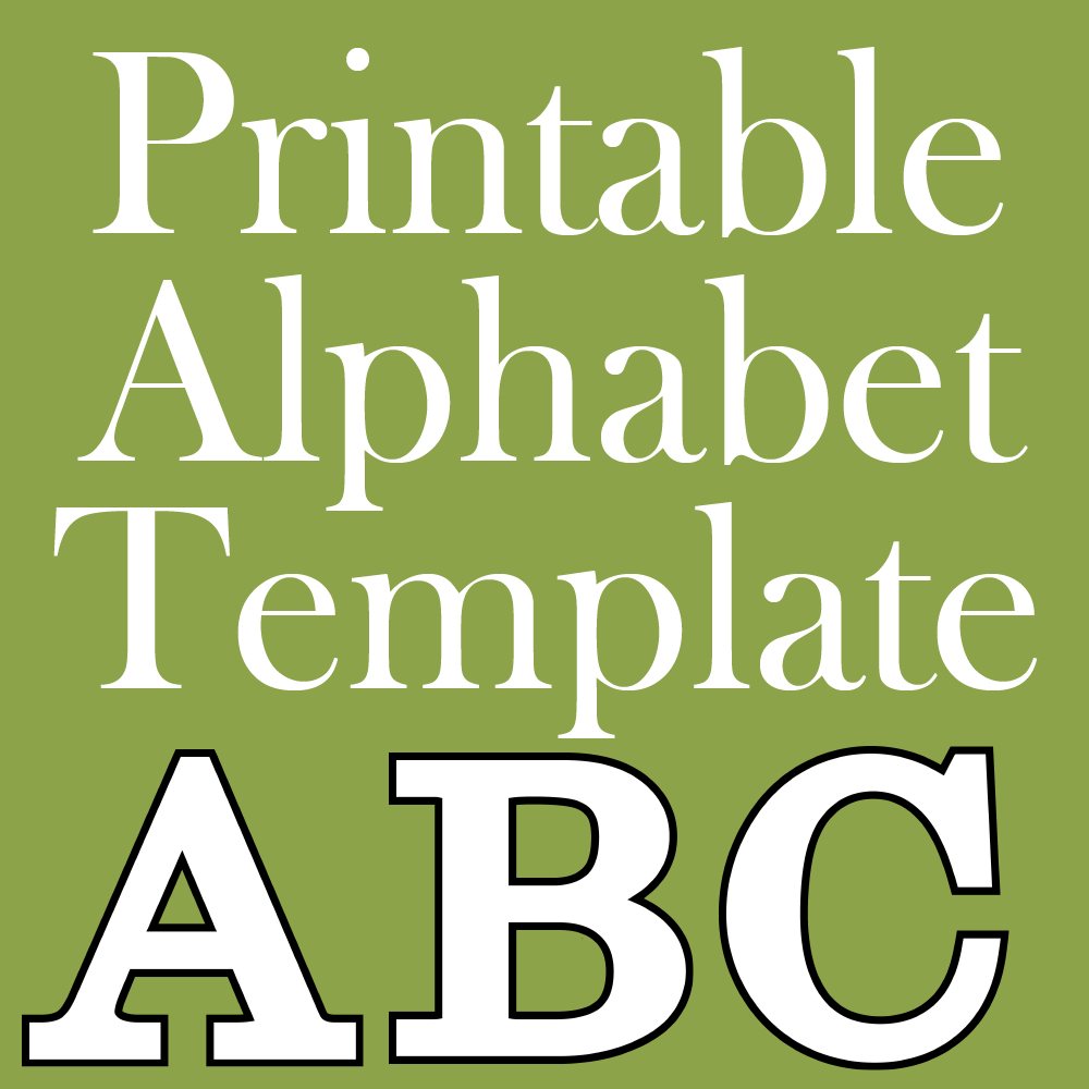 image about Free Printable Alphabet Templates identified as Cost-free Printable Letters - Generate Breaks