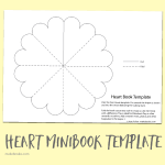 Free Heart Minibook Template