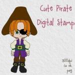 Cute Pirate Free Digital Stamp