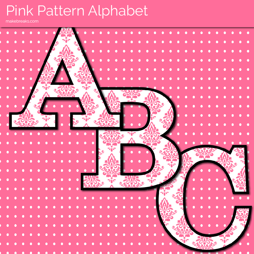 Pink Pattern Free Printable Letters