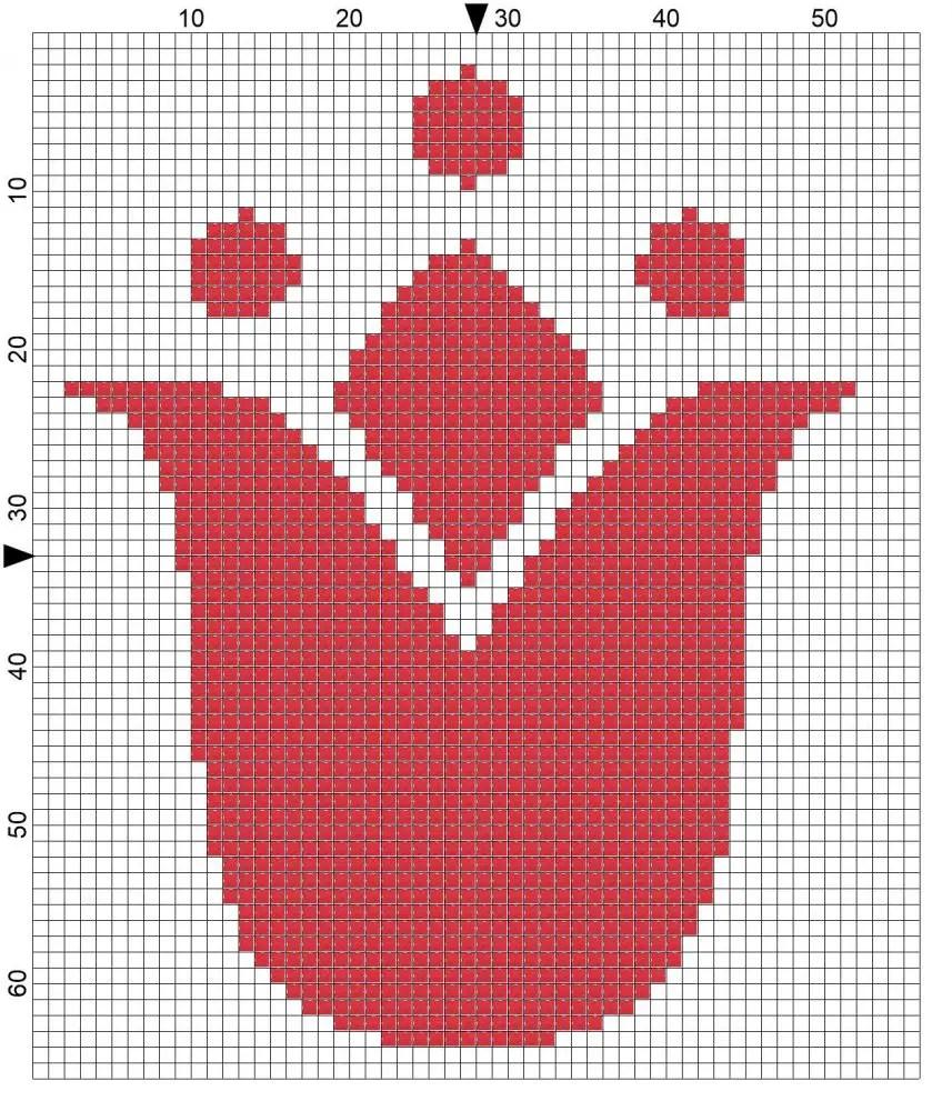 Free Cross Stitch Card – Tulip