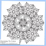 Free Printable Mandala Coloring Page 3