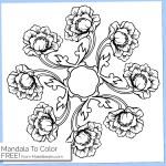 Free Printable Mandala Coloring Page 5