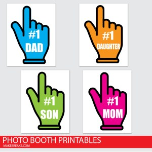 Free Printable Family Photo Props