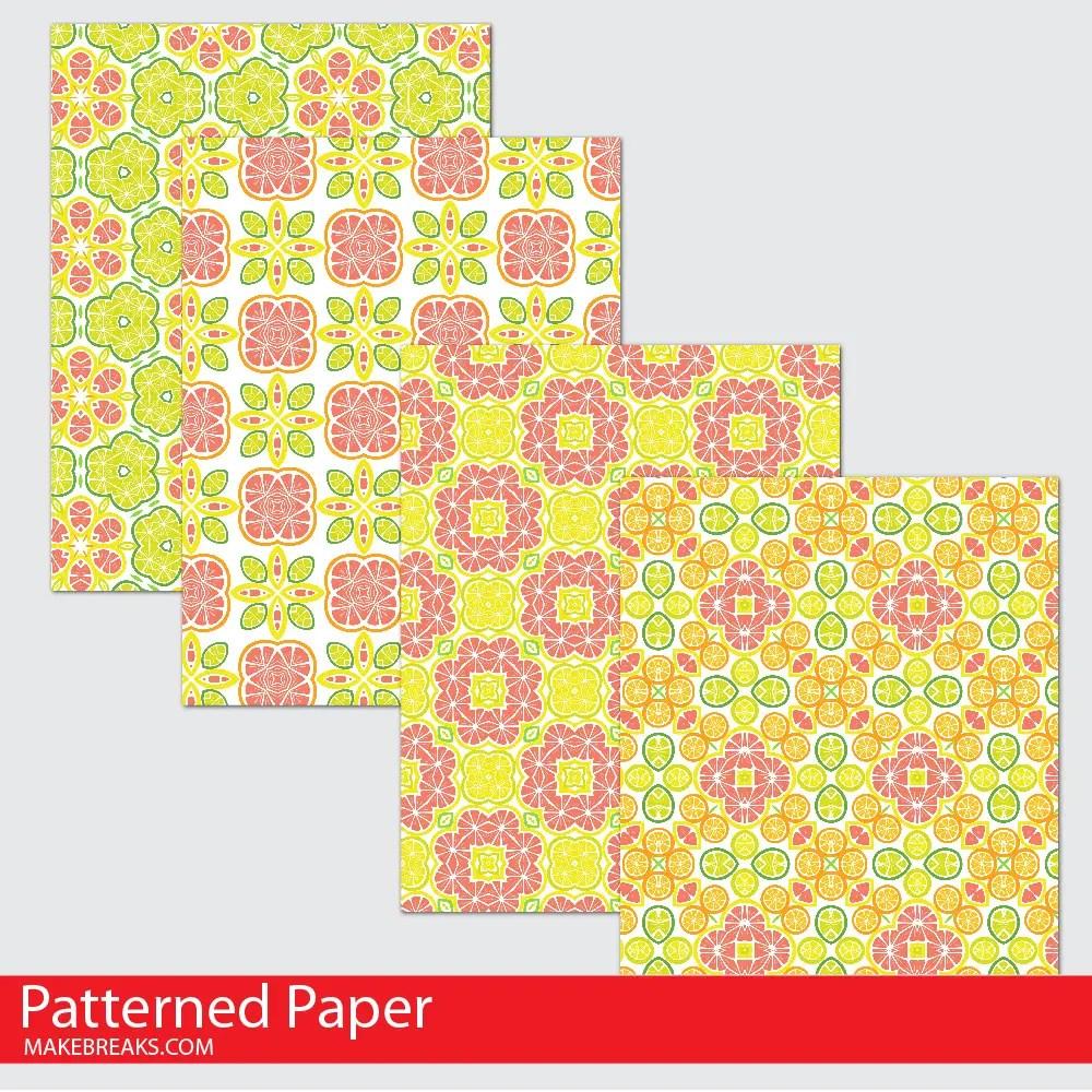 Citrus Digital Paper Download