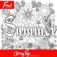 Free Printable Summer Coloring Page - Make Breaks