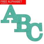 Turquoise Felt Effect Free Printable Alphabet