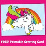 Free Printable Unicorn Greeting Card