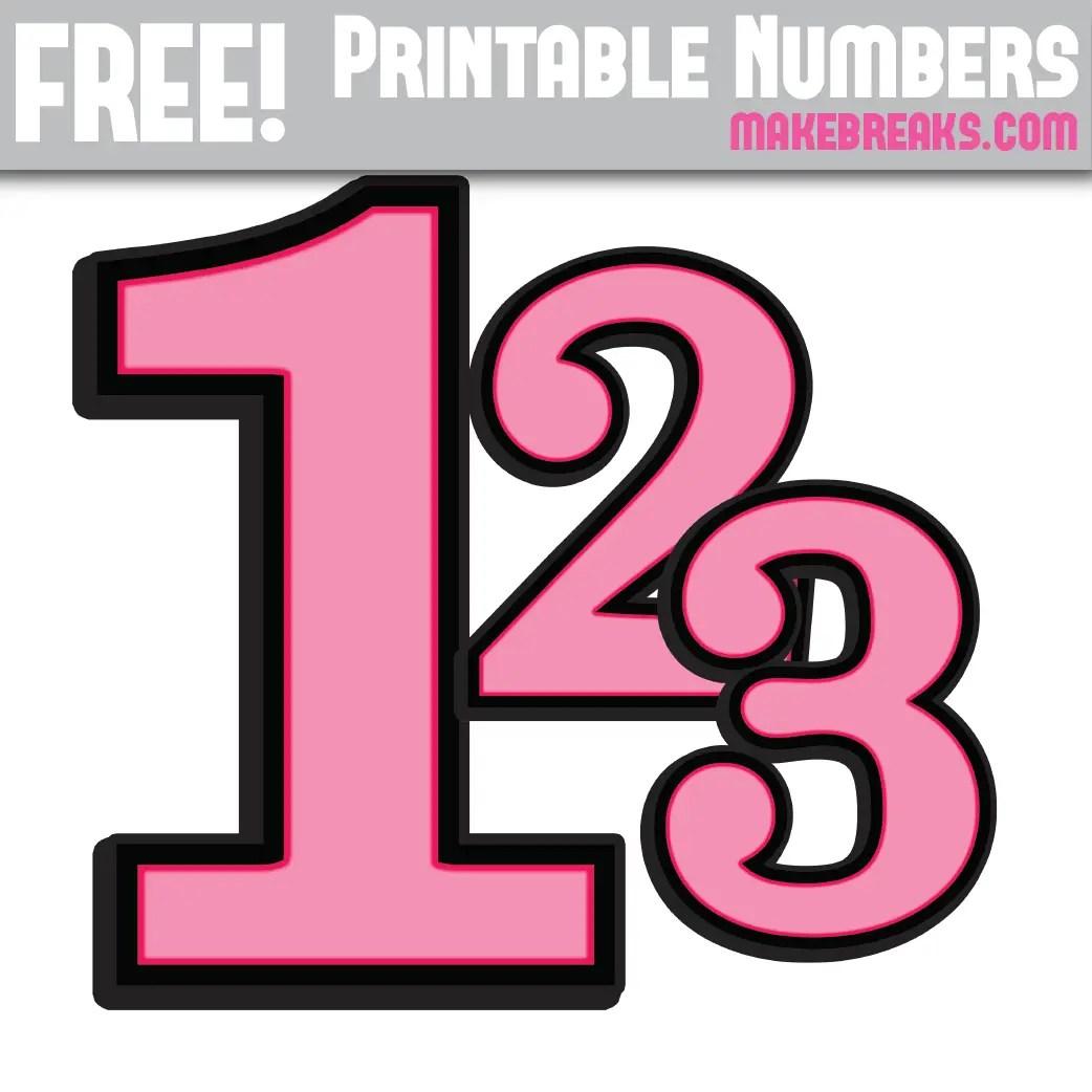 photo regarding Printable Numbers 0 9 identified as Red With Black Benefit Printable Quantities 0 - 9 - Produce Breaks