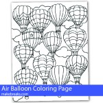 Free Air Balloon Coloring Page