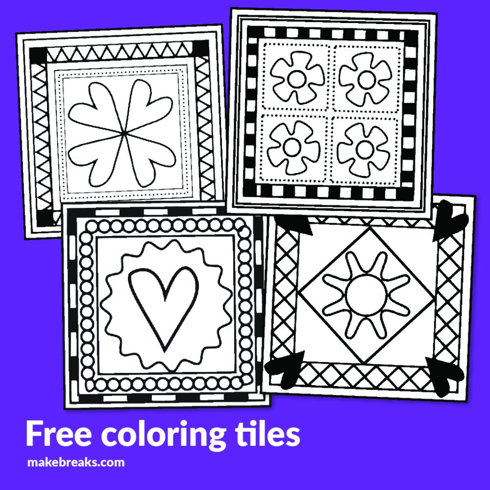 Coloring Tiles Free Digital Stamps
