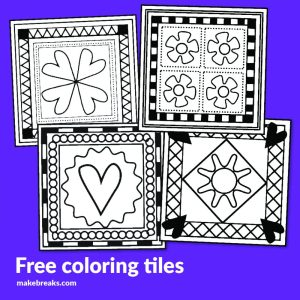 Coloring Tiles Free Digital Stamps