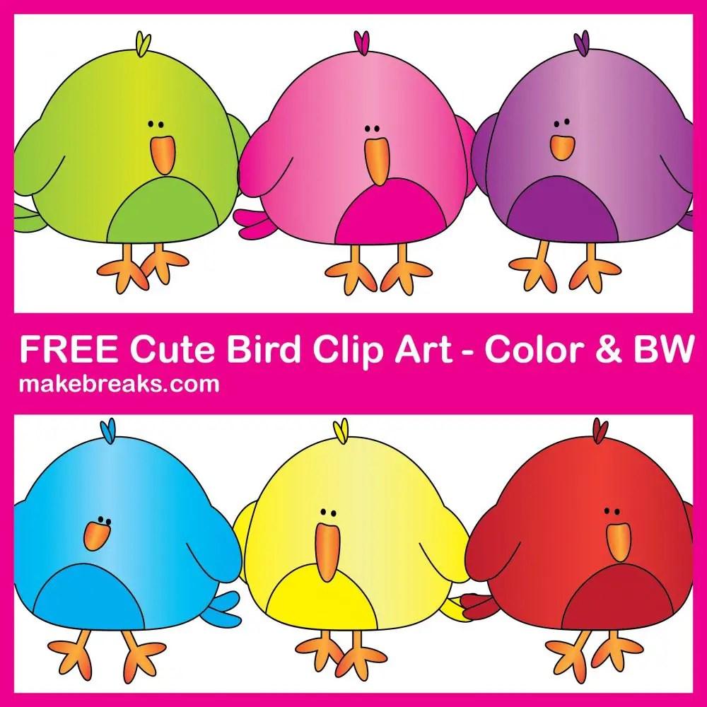 Free cute bird clipart for Teachers