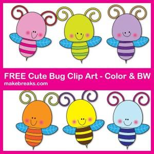 Free Cut Bug Clipart For Teachers