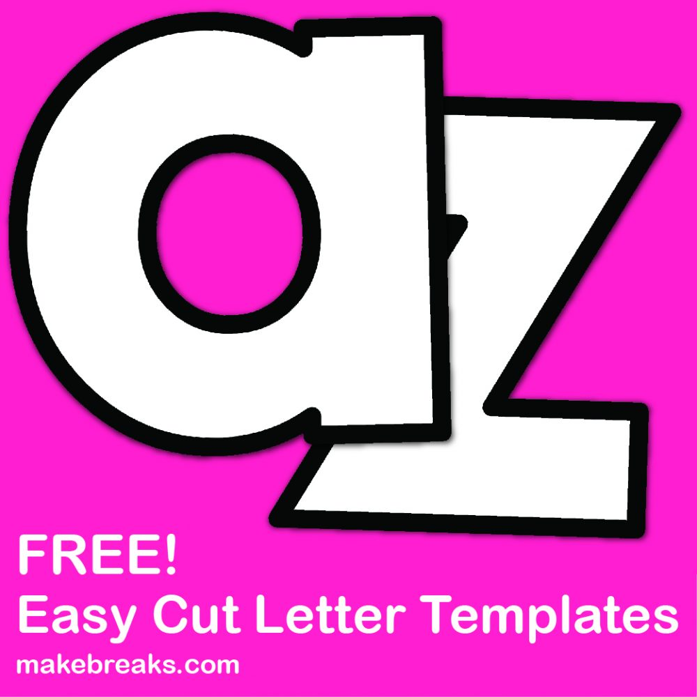 Easy cut letter template