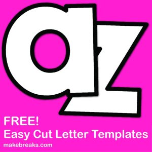 Easy Cut Letter Template 3 – Lower Case For Letter of the Week & Craft Projects