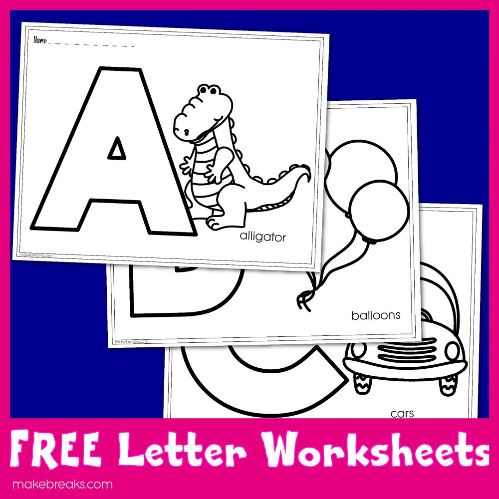 Free printable letters to color for letter of the week activities