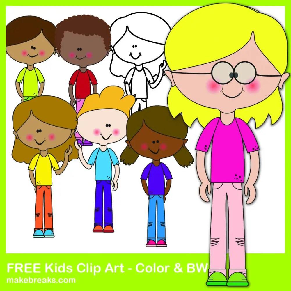 Free kids clipart for teachers