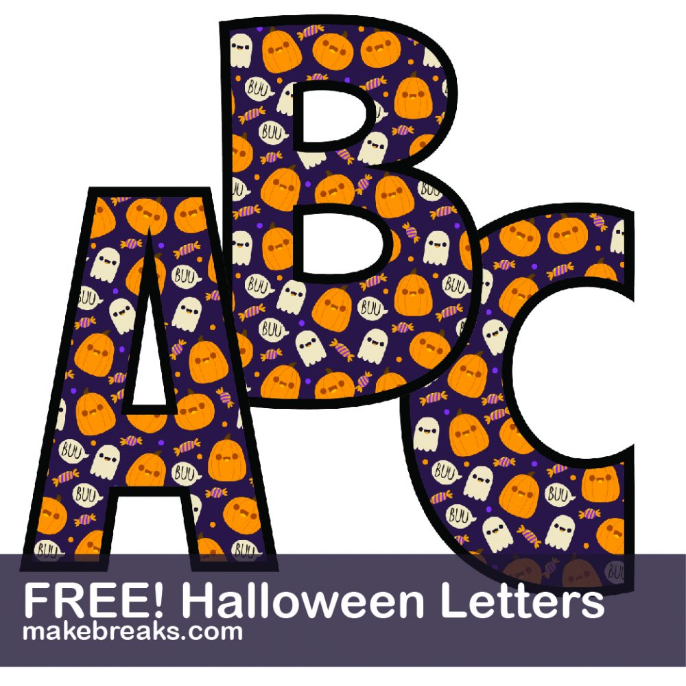 Halloween Letters to Print