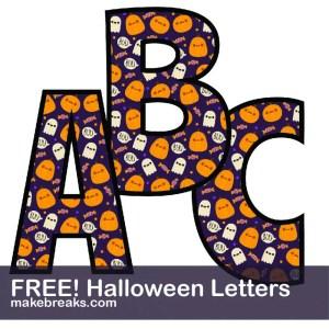 Halloween Free Printable Alphabet – Purple & Orange